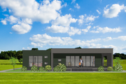 Modern Style House Plan - 4 Beds 2 Baths 1480 Sq/Ft Plan #549-12