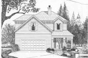 Traditional Style House Plan - 3 Beds 2.5 Baths 1676 Sq/Ft Plan #6-126