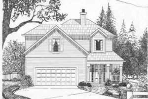Traditional Exterior - Front Elevation Plan #6-126