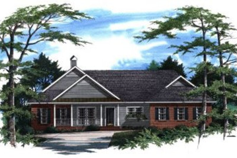 Architectural House Design - Traditional Exterior - Front Elevation Plan #41-160