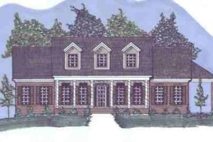 Southern Exterior - Front Elevation Plan #69-175