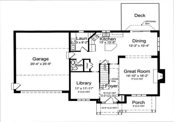 Traditional Floor Plan - Main Floor Plan Plan #46-475