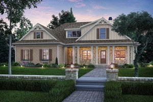 Country Exterior - Front Elevation Plan #927-17