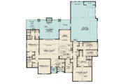 Contemporary Style House Plan - 3 Beds 4.5 Baths 2641 Sq/Ft Plan #923-125 Floor Plan - Main Floor Plan
