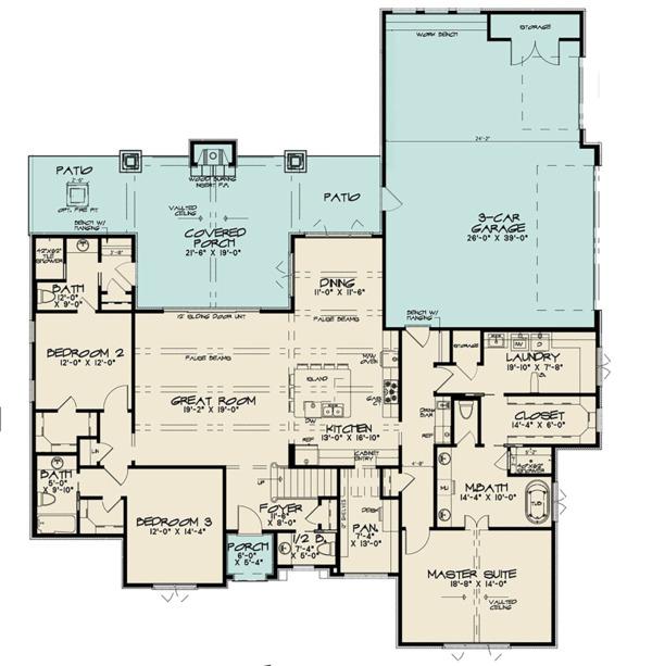 Contemporary Floor Plan - Main Floor Plan Plan #923-125