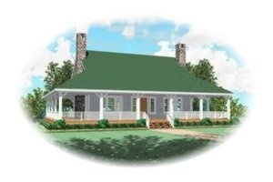 Southern Exterior - Front Elevation Plan #81-731