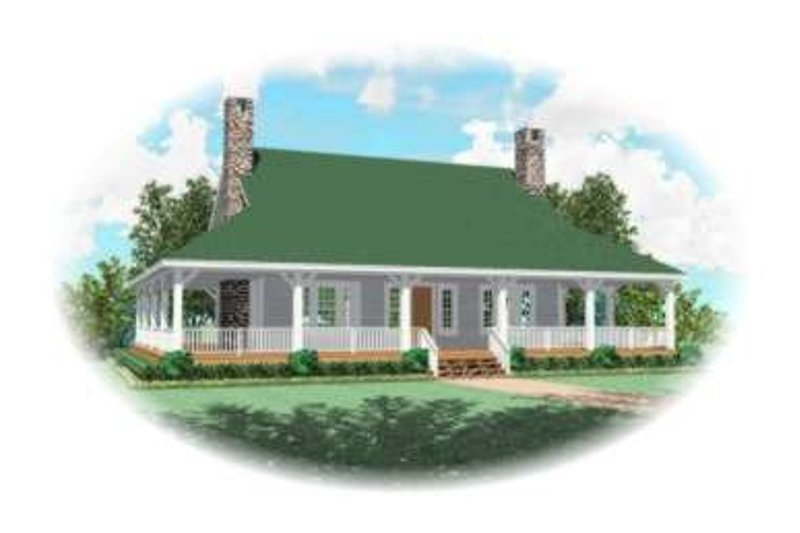 Southern Style House Plan - 3 Beds 2.5 Baths 2386 Sq/Ft Plan #81-731 Exterior - Front Elevation