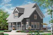 Country Style House Plan - 3 Beds 2 Baths 1508 Sq/Ft Plan #23-2471 Exterior - Front Elevation