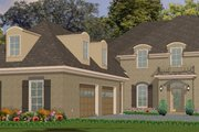 European Style House Plan - 4 Beds 3.5 Baths 3145 Sq/Ft Plan #63-229 Exterior - Front Elevation