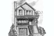Traditional Style House Plan - 3 Beds 2.5 Baths 1495 Sq/Ft Plan #20-432 Exterior - Front Elevation