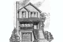 Home Plan Design - Traditional Exterior - Front Elevation Plan #20-432
