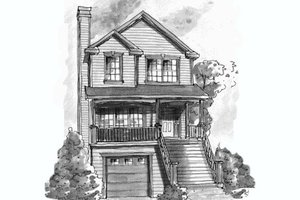 Traditional Exterior - Front Elevation Plan #20-432