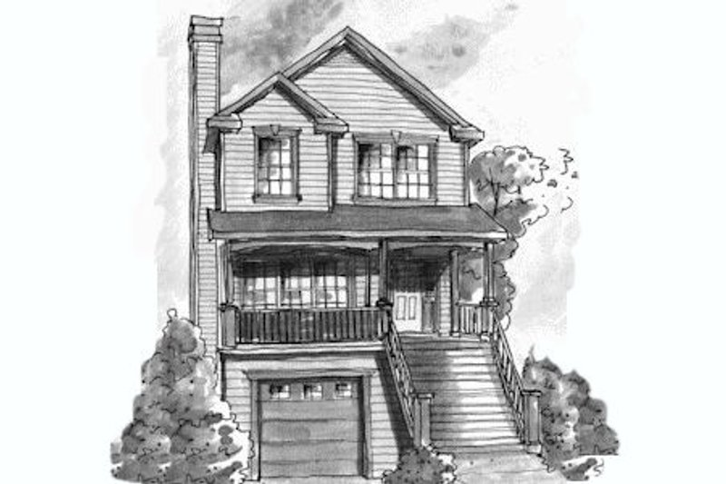 Traditional Exterior - Front Elevation Plan #20-432 - Houseplans.com