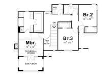 European Floor Plan - Upper Floor Plan Plan #20-2195
