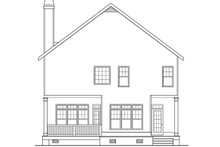 Southern Exterior - Rear Elevation Plan #419-315