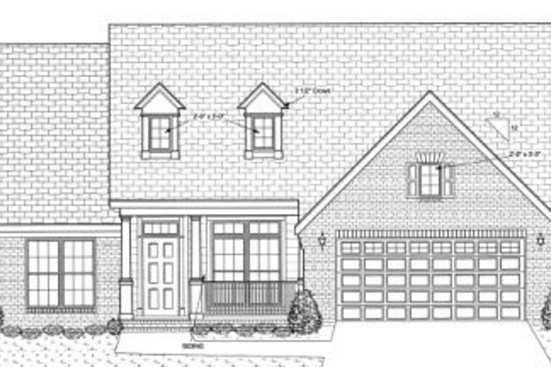 Traditional Exterior - Front Elevation Plan #20-1534 - Houseplans.com