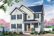 Colonial Style House Plan - 3 Beds 1.5 Baths 1485 Sq/Ft Plan #23-523 Exterior - Front Elevation