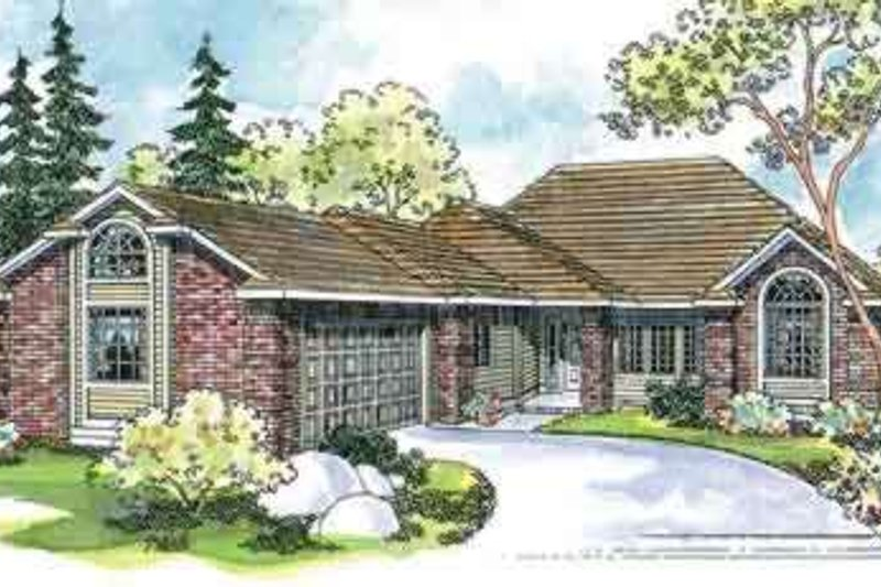 Ranch Exterior - Front Elevation Plan #124-451