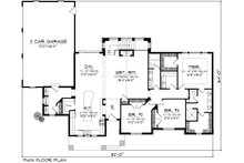 Ranch Floor Plan - Main Floor Plan Plan #70-1138