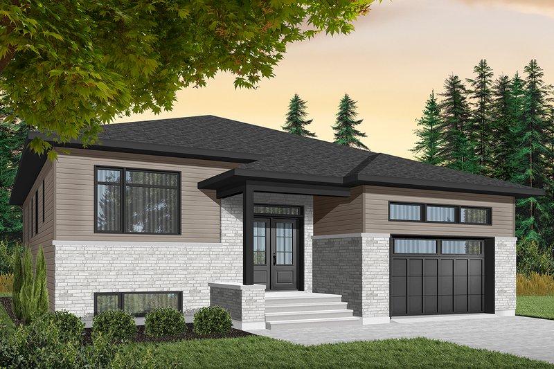 House Plan Design - Modern Exterior - Front Elevation Plan #23-2698