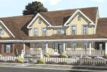 Country Exterior - Front Elevation Plan #20-1685