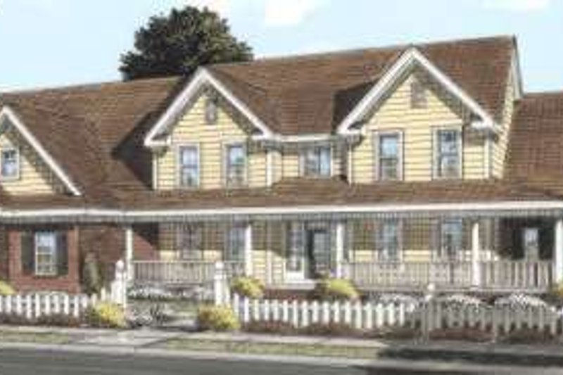Dream House Plan - Country Exterior - Front Elevation Plan #20-1685
