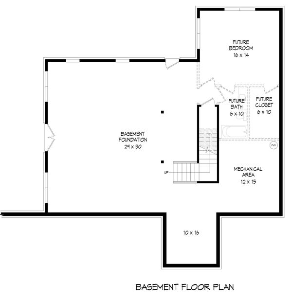 Country Floor Plan - Lower Floor Plan #932-348