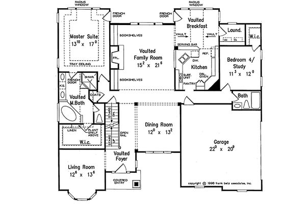 Traditional Floor Plan - Main Floor Plan Plan #927-33