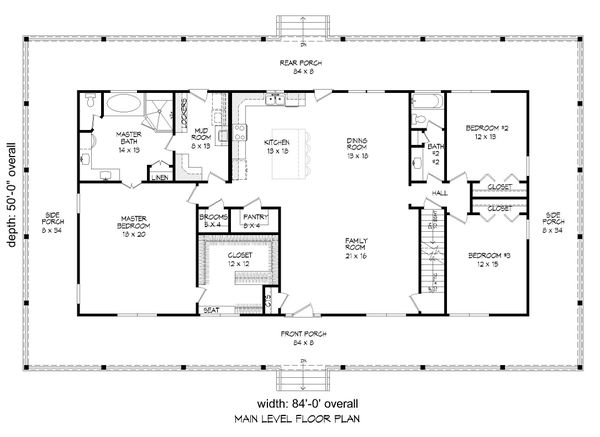 Dream House Plan - Traditional Floor Plan - Main Floor Plan #932-336