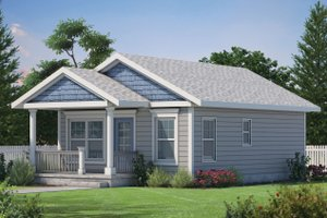 Cabin Exterior - Front Elevation Plan #20-2365