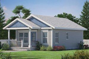 Cabin Exterior - Front Elevation Plan #20-2365