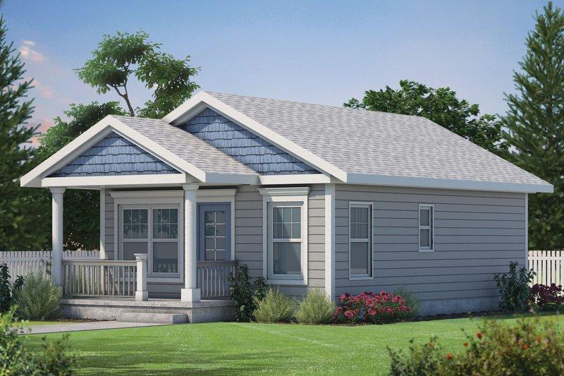 House Plan Design - Cabin Exterior - Front Elevation Plan #20-2365