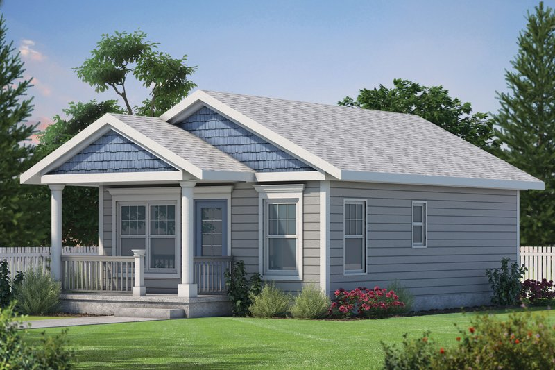 Cabin Style House Plan - 2 Beds 1 Baths 800 Sq/Ft Plan #20-2365