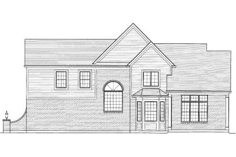 Traditional Exterior - Rear Elevation Plan #46-414 - Houseplans.com