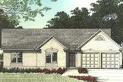 Traditional Style House Plan - 3 Beds 2 Baths 1338 Sq/Ft Plan #56-110 Exterior - Other Elevation
