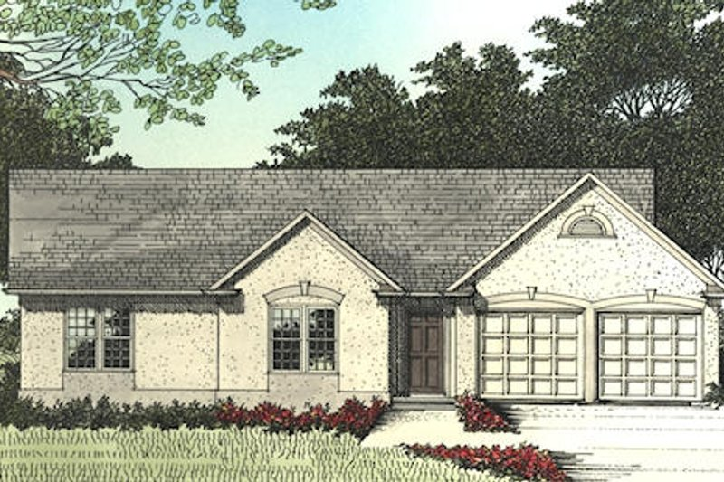 Traditional Exterior - Other Elevation Plan #56-110 - Houseplans.com