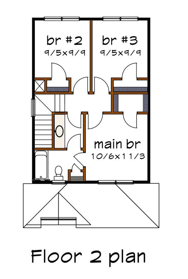 Dream House Plan - Cottage Floor Plan - Upper Floor Plan #79-120