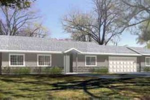 Ranch Exterior - Front Elevation Plan #1-1190