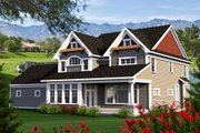 Craftsman Style House Plan - 5 Beds 3.5 Baths 3660 Sq/Ft Plan #70-1185 Exterior - Rear Elevation