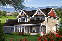 Craftsman Exterior - Rear Elevation Plan #70-1185
