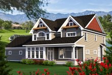 Home Plan - Craftsman Exterior - Rear Elevation Plan #70-1185