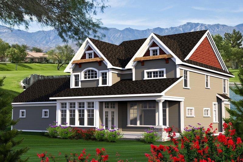 Craftsman Exterior - Rear Elevation Plan #70-1185 - Houseplans.com