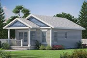 Cottage Style House Plan - 2 Beds 1 Baths 682 Sq/Ft Plan #20-2364 Exterior - Front Elevation