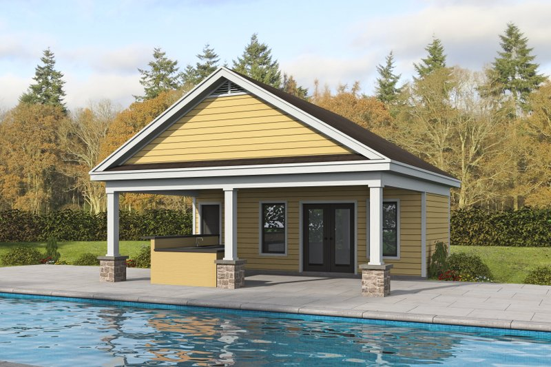 House Blueprint - Country Exterior - Front Elevation Plan #932-354
