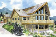 Log Style House Plan - 2 Beds 2.5 Baths 1987 Sq/Ft Plan #124-766 Exterior - Front Elevation
