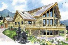 Home Plan Design - Log Exterior - Front Elevation Plan #124-766