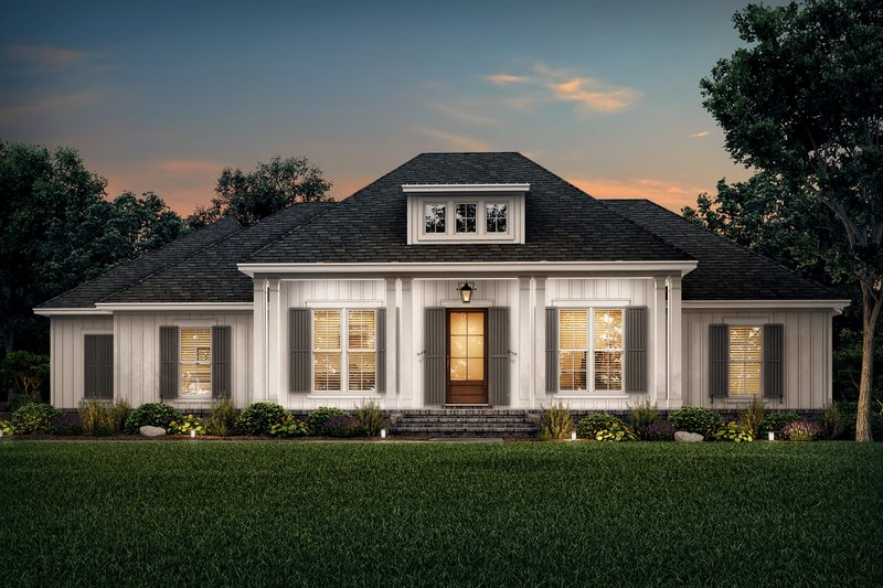 Home Plan - Southern Exterior - Front Elevation Plan #430-216