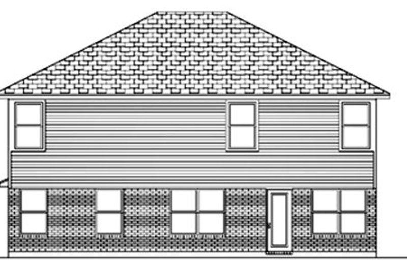 Traditional Exterior - Rear Elevation Plan #84-400 - Houseplans.com