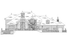 House Plan Design - European Exterior - Rear Elevation Plan #5-442
