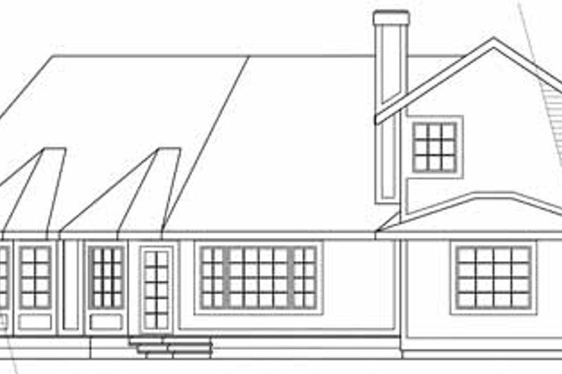 Traditional Exterior - Rear Elevation Plan #124-103 - Houseplans.com